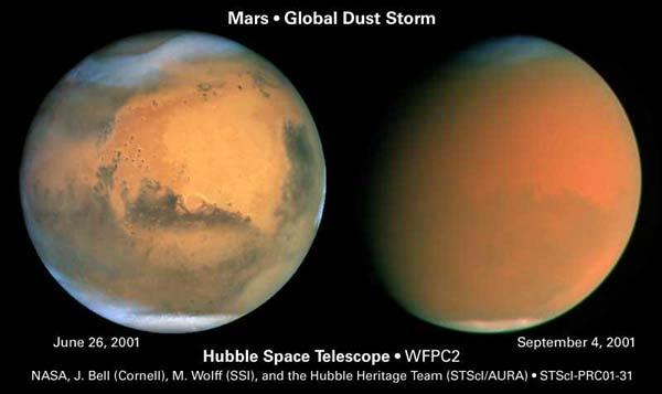 Песчаная буря на Марсе